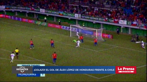 ¡Golazo! El gol de Alex López de Honduras frente a Chile