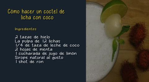 Cómo hacer un coctel de licha con coco