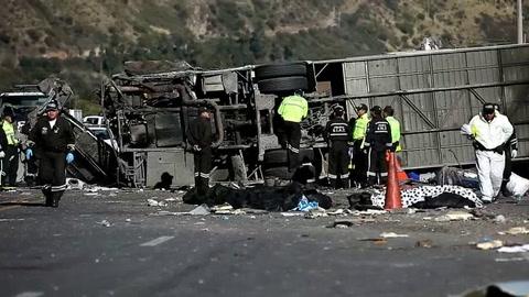 Muertos en el accidente de autobús en Ecuador eran venezolanos y colombianos