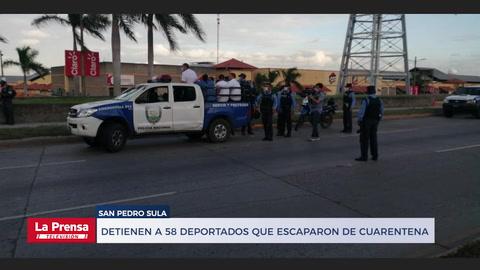 Honduras: Detienen a 58 deportados que escaparon de cuarentena y buscan a 12