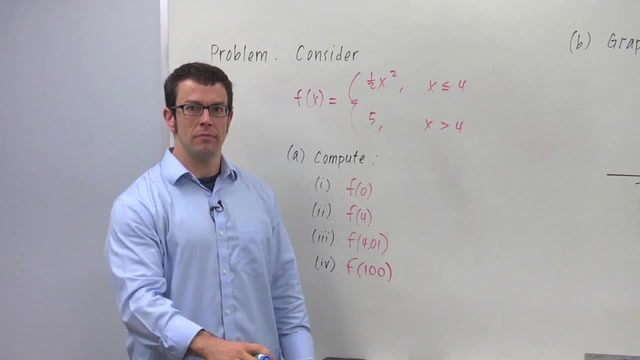 Domain Restrictions and Functions Defined Piecewise - Problem 1