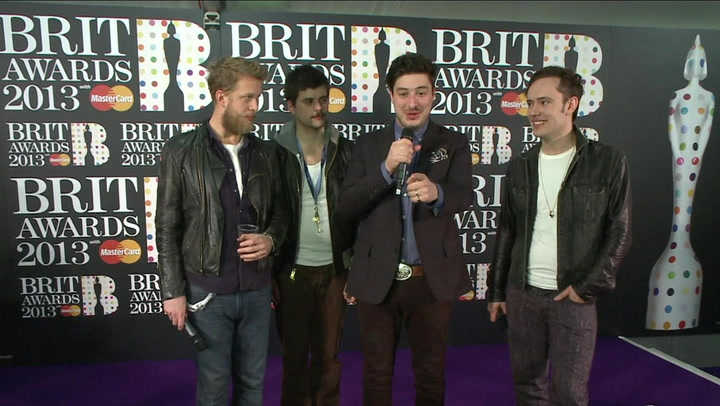Mumford & Sons Try To Steal Life-Size BRIT Award