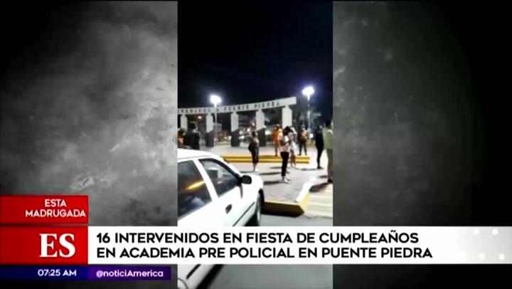 Puente Piedra: intervienen a más de 15 personas en fiesta realizada en academia policial