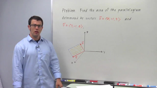 Area With the Cross Product - Problem 1