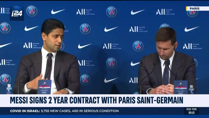 Lionel Messi Excited By Crazy Line Up With Neymar And Kylian Mbappe In First Psg Press Conference The Independent