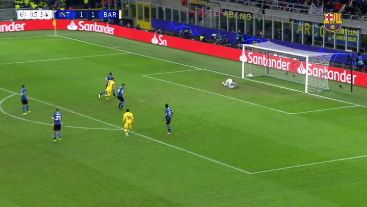 Ansu Fati quebra recorde ao marcar contra a Inter na Champions