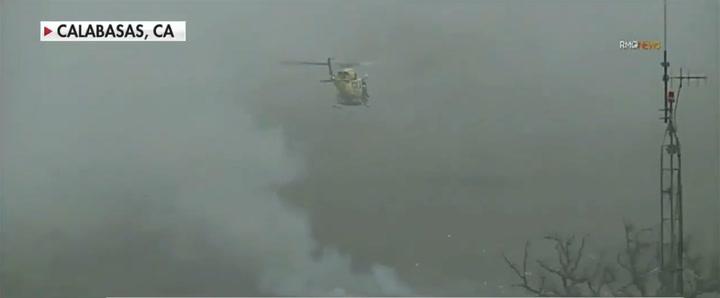 Primeras imágenes de la escena del accidente de helicóptero de Kobe Bryant
