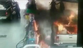 Padre e hija sufren quemaduras en gasolinera en México