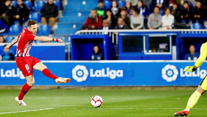 LaLiga: Alavés - Atlético Madrid. Gol de Saúl Ñíguez en el minuto 5 (0-1)