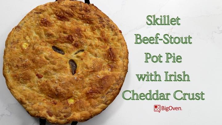 Skillet Beef-Stout Pot Pie with Irish Cheddar Crust