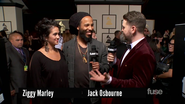 Ziggy Marley on Grammy Win & Hanging with Willie Nelson on GRAMMY Red Carpet