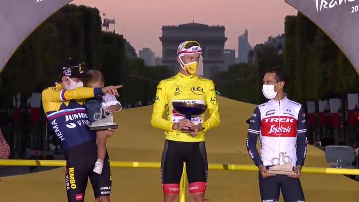 Pogacar, Roglic y Porte, el podio del Tour