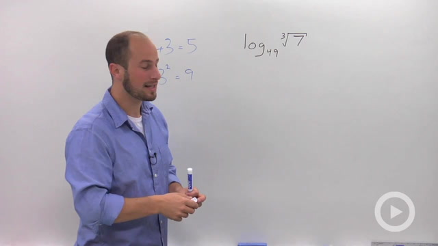 Solving Simple Logarithmic Equations - Problem 2