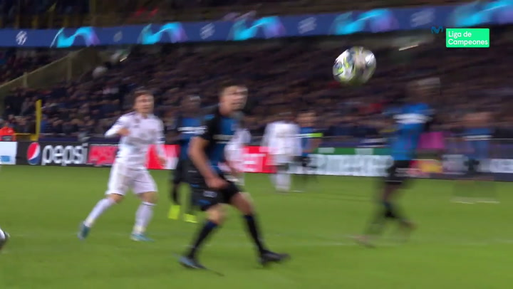 Champions League: Brujas - Real Madrid.. Gol De Luka Modric (1-3)