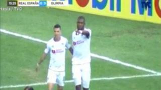 Benguché abre el marcador 1-0 para Olimpia ante Real España