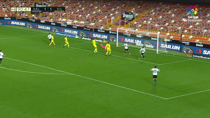 Gol de Guedes (2-1) en el Valencia 2-1 Villarreal