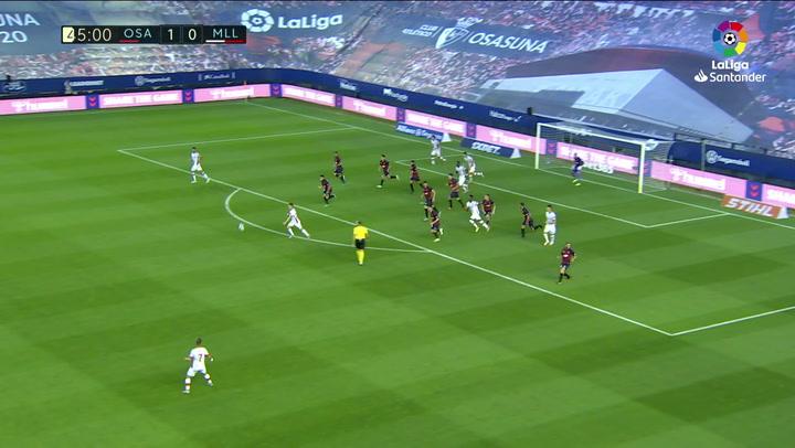 Gol de Lumor (1-1) en el Osasuna 2-2 Mallorca