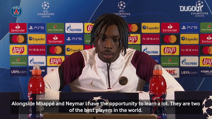 Moise Kean: ' Alongside Mbappé and Neymar I have the opportunity to learn a lot.'