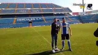 Jona Mejía es presentado como nuevo jugador del Hércules