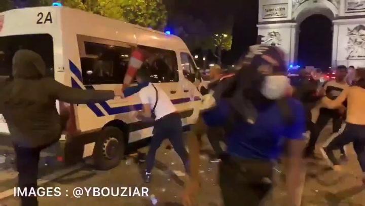 Disturbios en París por la celebración del PSG