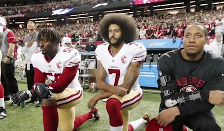 Colin Kaepernick, de rodillas y en pie de guerra contra Trump
