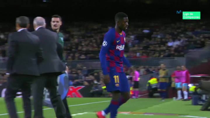 Champions League: Barça - Slavia Praga. El partido de Ousmane Dembélé