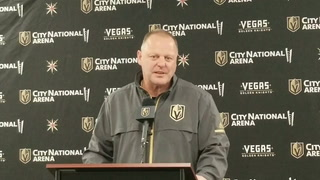 Golden Knights coach Gerard Gallant on center Vadim Shipachyov