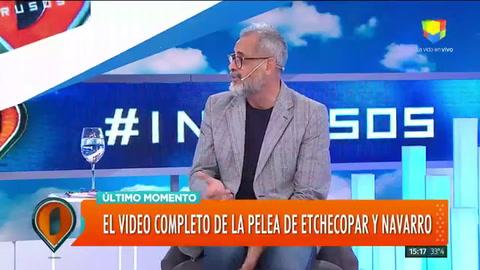 Imágenes inéditas de la pelea entre Baby Etchecopar y Roberto Navarro