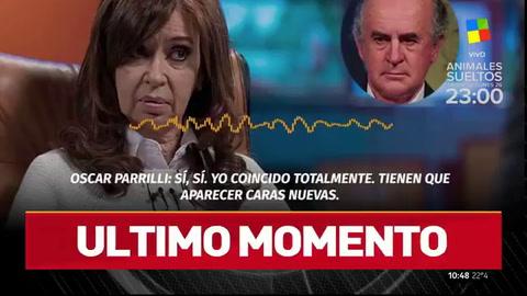 Difunden nuevas escuchas de diálogos entre Cristina y Parrilli