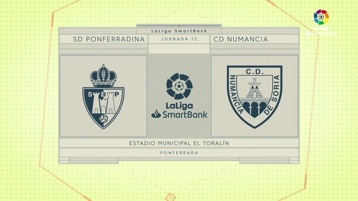 LaLiga SmartBank (J12): Resumen y goles del Ponferradina 1-1 Numancia