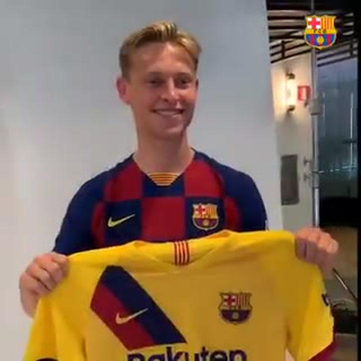De Jong sorprendido con la nueva segunda equipación del Barça