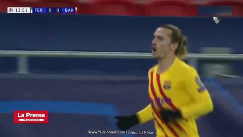 El golazo de tacón de Griezmann contra el Ferencvaros