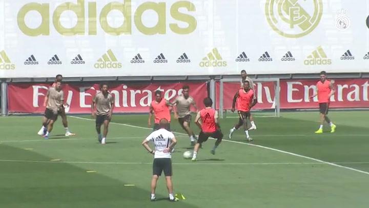 El Real Madrid prepara el partido contra el Éibar