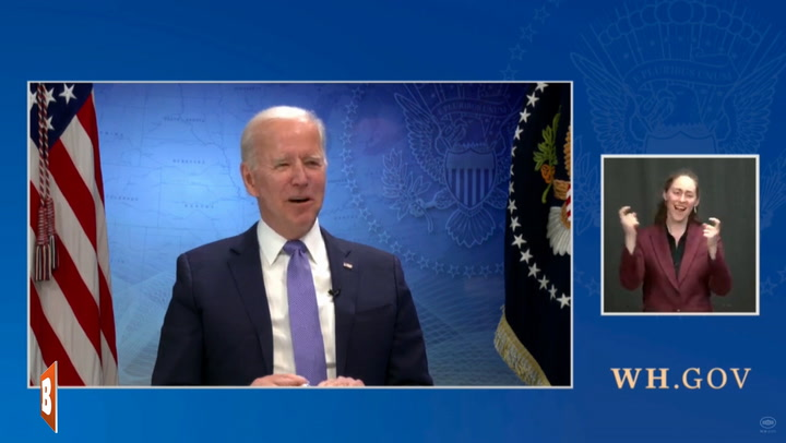 Biden Doesn't Realize He's Been Live for Over a Minute at Start of Virtual Conference with Governors