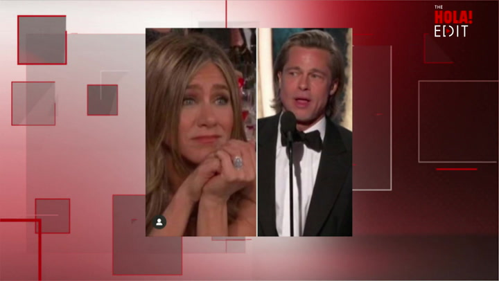 Jennifer Aniston's sweet reaction to Brad Pitt's Golden Globes speech