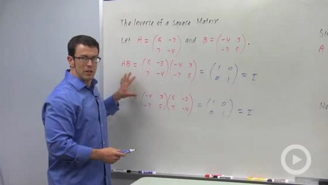 The Inverse of a Square Matrix - Concept