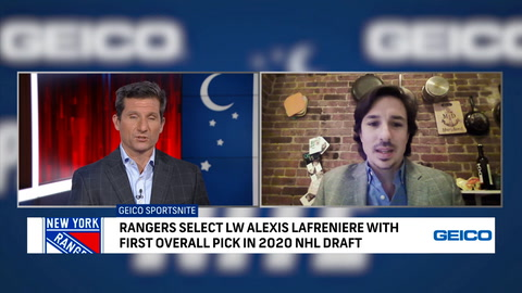 Breaking down Rangers' selection of Alexis Lafreniere with first overall pick
