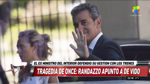 Randazzo evitó cargar contra De Vido por la tragedia de Once