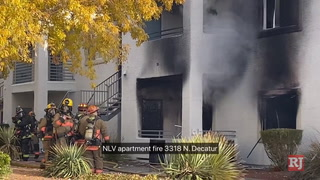 Fire at North Las Vegas apartment complex – VIDEO