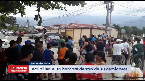 Acribillan a un hombre dentro de su camioneta en San Pedro Sula