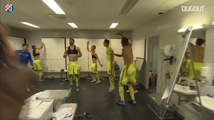 Behind the Scenes: Dinamo Zagreb Players Celebrate UCL Playoff Victory