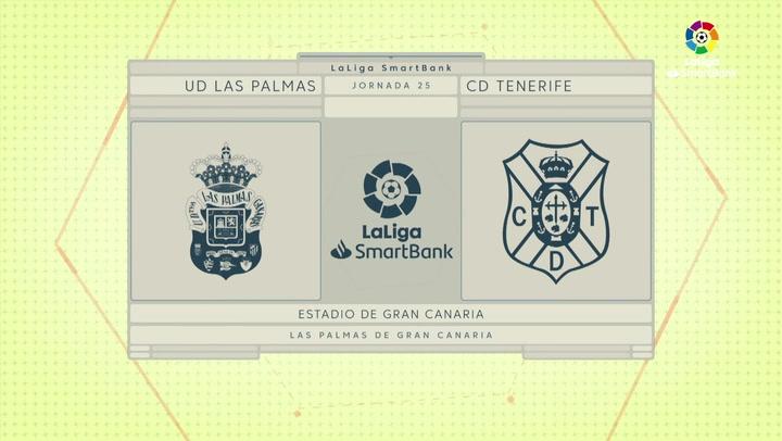 LaLiga SmartBank (J25): Resumen del Las Palmas 0-0 Tenerife