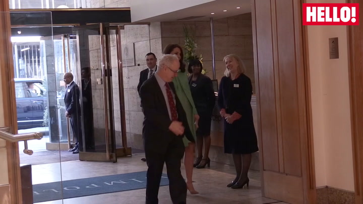 Duchess Of Cambridge Arrives At The Royal Society Of Medicine