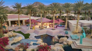 Incredible, Neon-Lit Mansion Is Like an '80s Mirage in the Desert