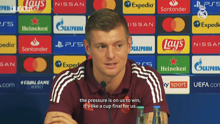Kroos: 'It's like a cup final for us'