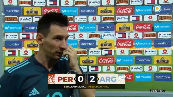 Messi habló sobre el rendimiento de Argentina tras la victoria ante Perú