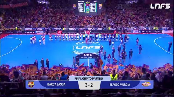 LNFS: Resumen del Barça Lassa - ElPozo Murcia - Quinto Partido Finales
