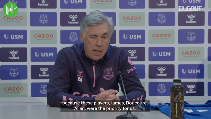 Ancelotti praises Everton for signing 'top priority' targets