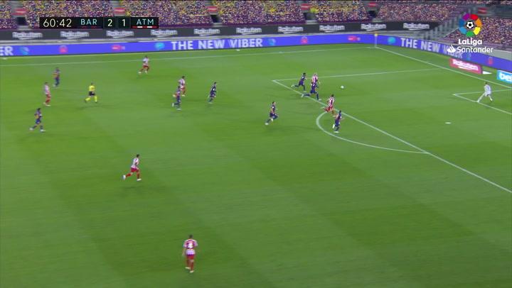 Gol de Saúl, p. (2-2) en el Barcelona 2-2 Atlético