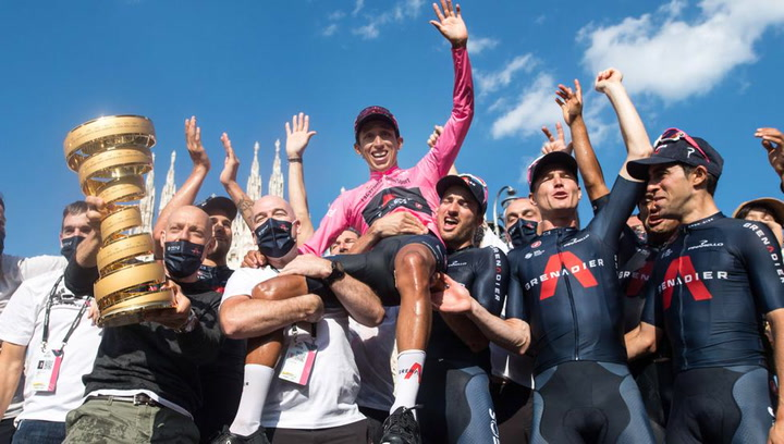 Así fue la ceremonia de entrega de premios del Giro d'Italia 2021